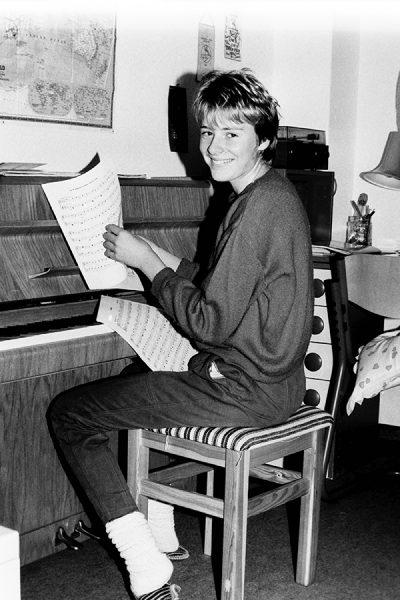 Mojca, ko je še kazalo, da bo pianistk, 1991